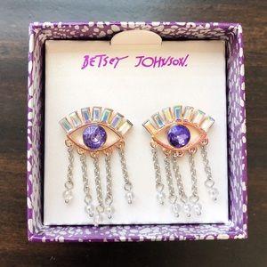 Betsey Johnson Lucky Evil Eye Earrings